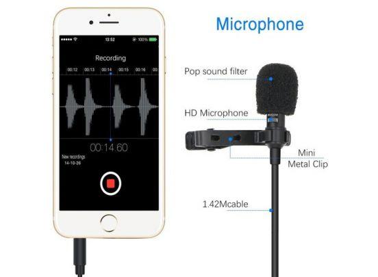 Microfoon voor smartphone of tablet - Maakt van je telefoon een professioneel microfoon-systeem