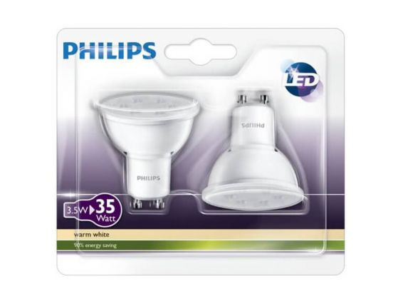 Philips LED Spot - Led lamp - GU10 - 3.5W = 35W - 2 stuks