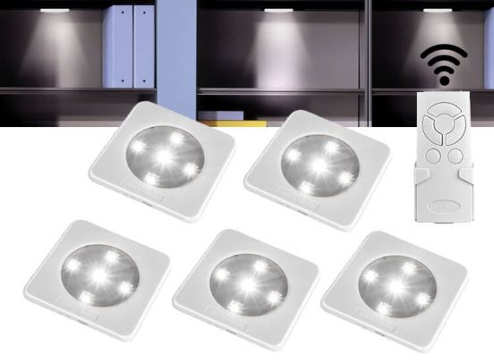 Oplaadbare led-spotjes 5 stuks met afstandbediening - Geen stroom nodig en oplaadbaar