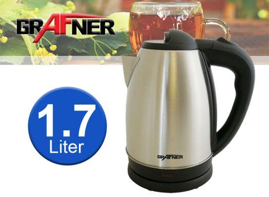 Grafner Design-Wasserkocher Edelstahl 14246