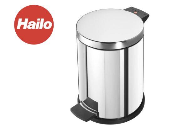 Hailo pedaalemmer solid m 12 l, rvs, met gegalvaniseerde binnenemmer