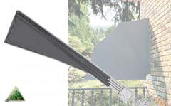 Pro Garden Opvouwbaar Balkonwindscherm - Polyester - 140 x 140 cm - Grijs