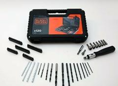 Black+Decker boren en bitset - 120 delig