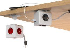 PowerCube Extended Duo USB - 1.5 meter kabel - Wit/Groen - 4 stopcontacten - 2 USB laders - NL\/DE (Type F)