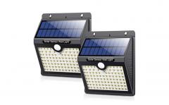 Solar Buitenlamp met bewegingssensor - 2 stuks - Zwart