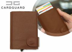 Card Guard Uitschuifbare portemonnee-Bruin