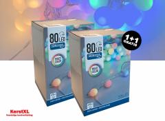 Partyverichting multi color 80 LED's - 12 meter - voor binnen & buiten 1+1 gratis
