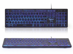 Gembird Multimedia toetsenbord (zwart) met BackLight
