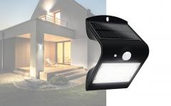 Luceco LED zonnelamp met bewegingsmelder 1,5 W zwart