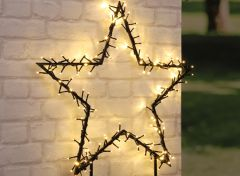 Kerstster met verlichting