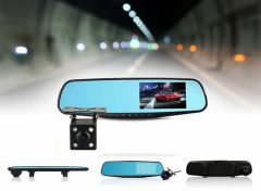 iBello dashcam achteruitrijcamera in spiegel