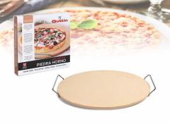 Quttin Pizzasteen  - Ø 33 cm - met houder