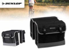 Dunlop - Zwarte dubbele fietstas 26 L - Waterdicht