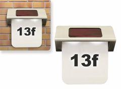 Outdoor Lights LED solar roestvrijstalen huisnummerplaat