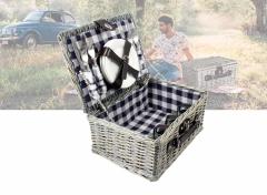Picknickmand - 40x28x18 cm - Ruit Blauw