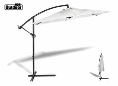 909 Outdoor zweefparasol - hangparasol - crème - Ø300 cm