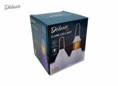 Deluxa LED lamp met vlam effect