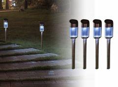 Kustaa solar tuinlampenset shining - set van 4 stuks