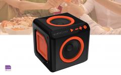 AudioCube bluetooth speaker voor thuis en onderweg - Oranje/Zwart