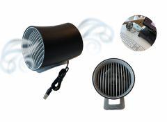 USB mini ventilator - Touch control - 3 Standen - 14x10x13,5 cm - Zwart