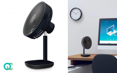 FlinQ Tafelventilator - Bureauventilator - Draadloos - Zwart