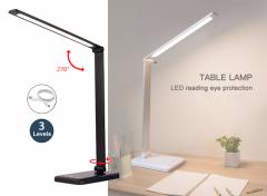 Fedec Bureaulamp - LED - Met 3 dimstanden - Wit of Zwart