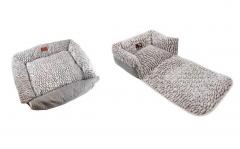 Warme comfortabele hondenmand - Grijs - 60x50x16