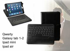 mr Handsfree Blue Tablet Cases met Qwerty Toetsenbord