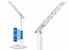 Bureaulamp met LCD scherm - Datum en tijd - Wit